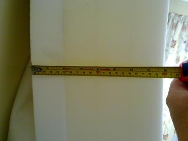 9 Joseph Wave Memory Foam Luxury Mattress Double 4 May 2011 Measurements show 5cm of memory foam.jpg