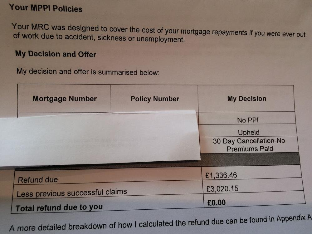 Halifax Ppi Claims >> Help With Halifax Mppi Rejection Letter Halifax Bank And