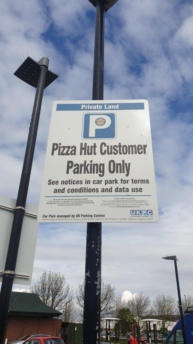 Pizza Hut Bs23 3wl Ukpc Anpr Private Land Parking